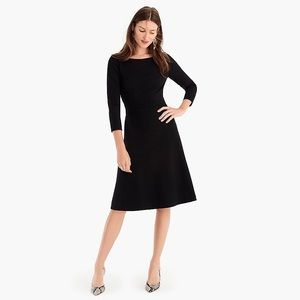 J. Crew fit-and-flare dress in stretch ponte